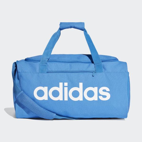 9e8bb7284a Linear Core Duffel Bag Small True Blue   True Blue   White DT8623