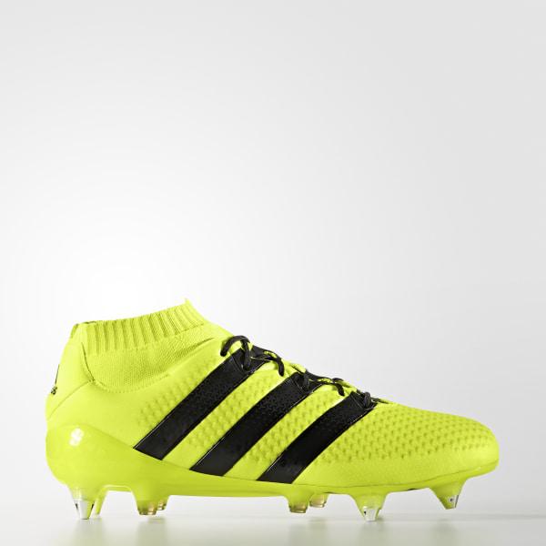 new style 22643 4c817 Zapatos de fútbol ACE 16.1 PRIMEKNIT Terreno Firme SOLAR YELLOW CORE  BLACK SILVER MET