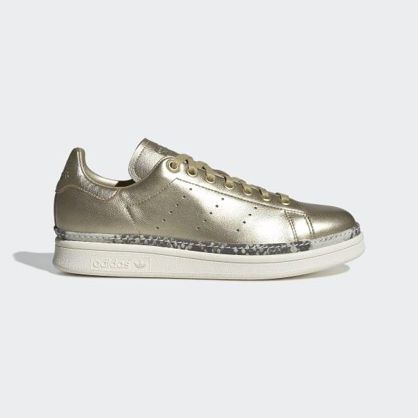 new style ebd42 468a3 Stan Smith New Bold Shoes Gold Metallic  Gold Metallic  Off White F34120