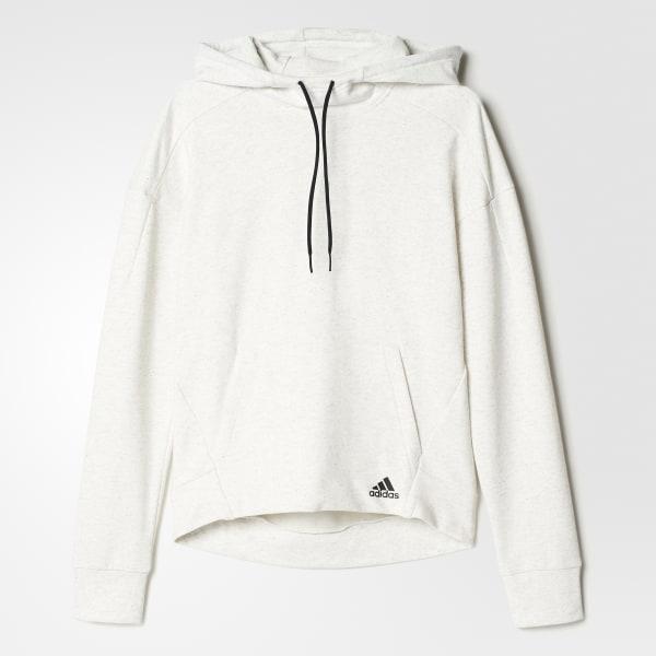 aecde37dd adidas Melange Pullover Hoodie - White | adidas Canada