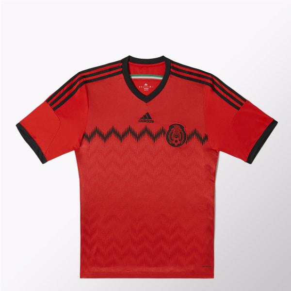 18c3140601fa0 Jersey de Visitante Selección Mexicana de Fútbol 2014-2015 POPPY   BLACK  G74508