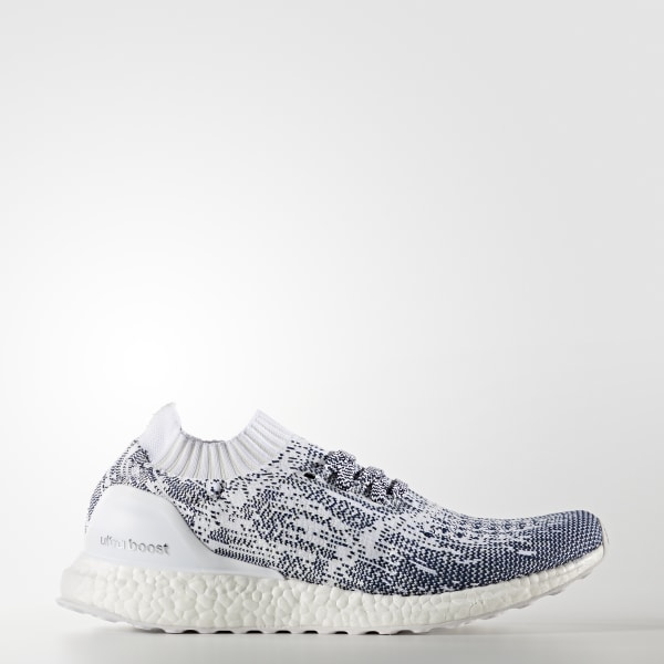 37feb76a4 ULTRABOOST Uncaged Shoes Non Dyed   Cloud White   Collegiate Navy BA9616