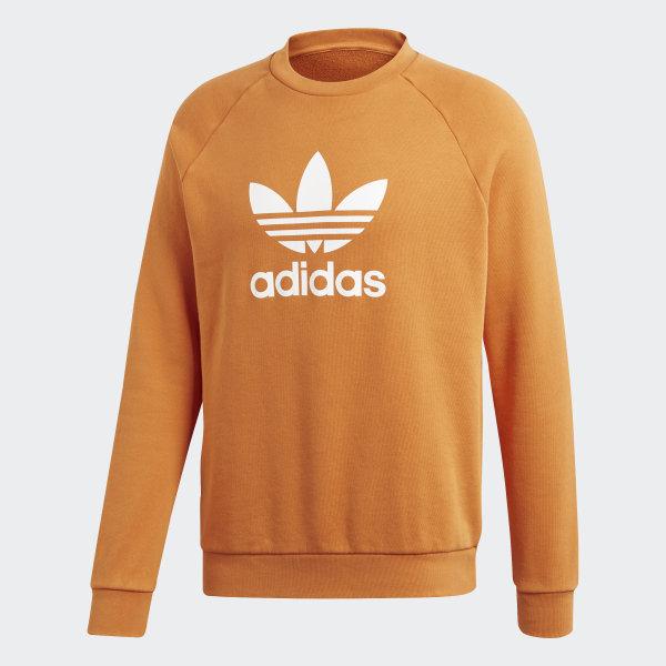 62cc2158aeffc Sweat-shirt Trefoil Warm-Up - orange adidas   adidas France