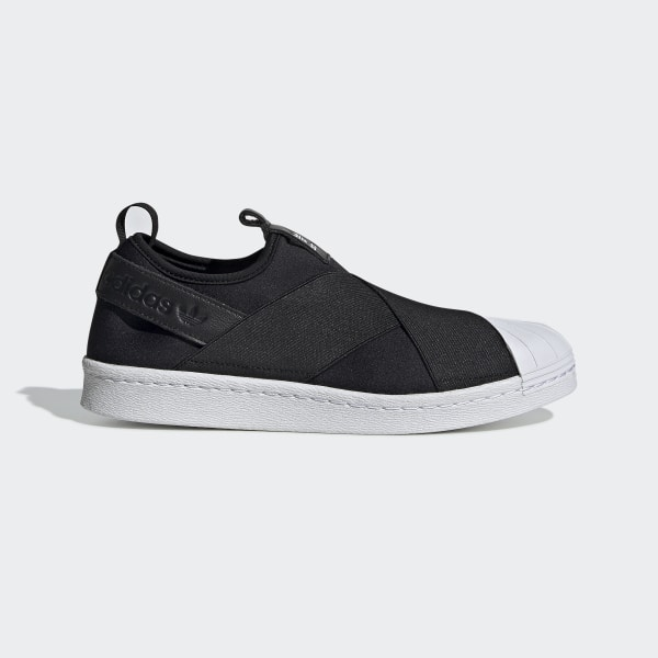 new style bce01 49eb8 Zapatillas Casuales Superstar Slip On Mujer CORE BLACK WHITE S81337