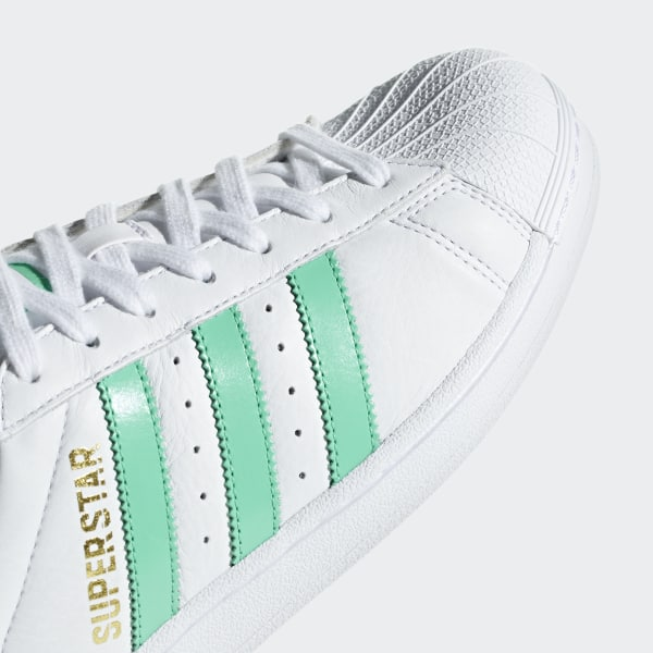 new product e57cc 128d5 Superstar Shoes Cloud White  Hi-Res Green  Gold Metallic B41995