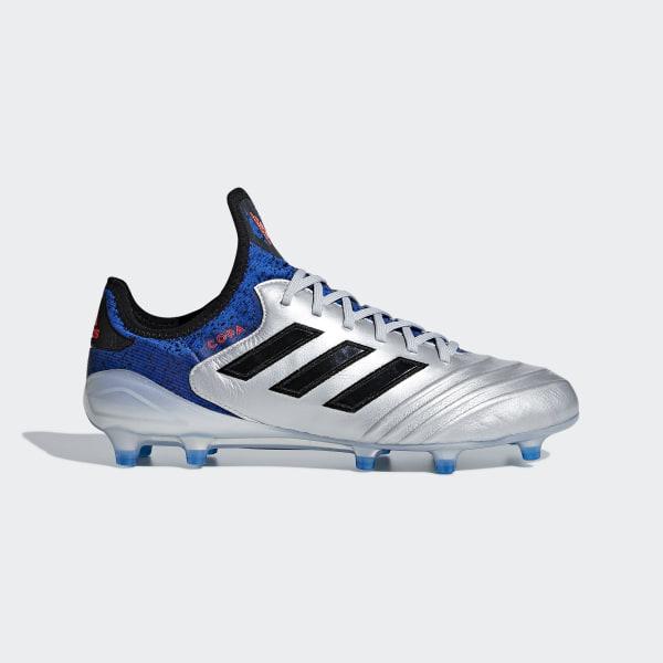 8323036b27655 Calzado de Fútbol Copa 18.1 Terreno Firme SILVER MET. CORE BLACK FOOTBALL  BLUE