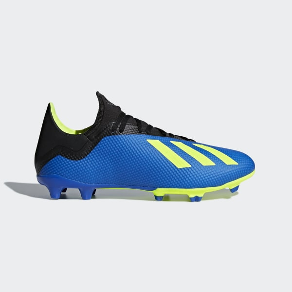Bota de fútbol X 18.3 césped natural seco Football Blue   Solar Yellow    Core Black aa75fea654c2c