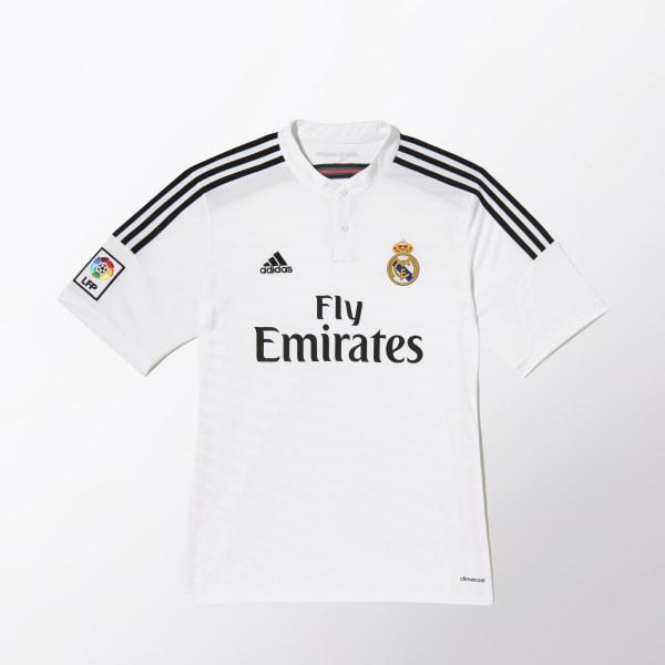 Jersey Local Real Madrid 2014-2015 WHITE BLACK BLAPINK F50637 b0cd904c8c326
