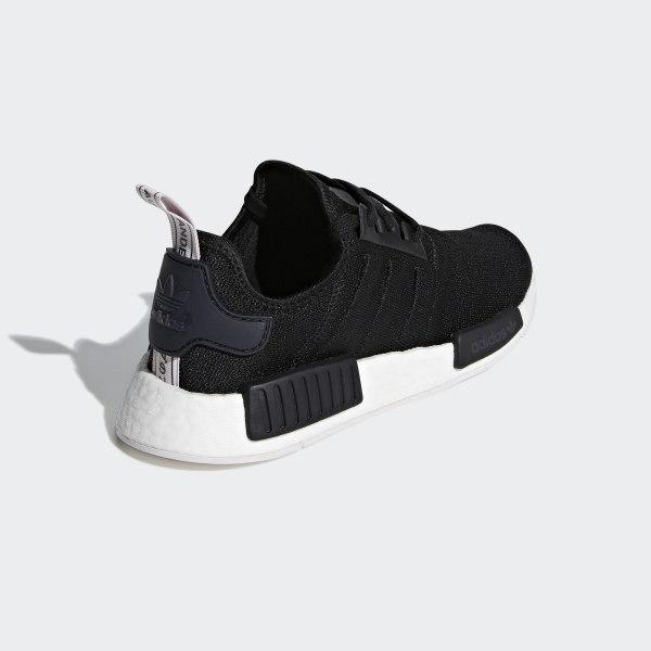 630e73a1f5de NMD R1 Shoes Core Black   Core Black   Orchid Tint BD8026