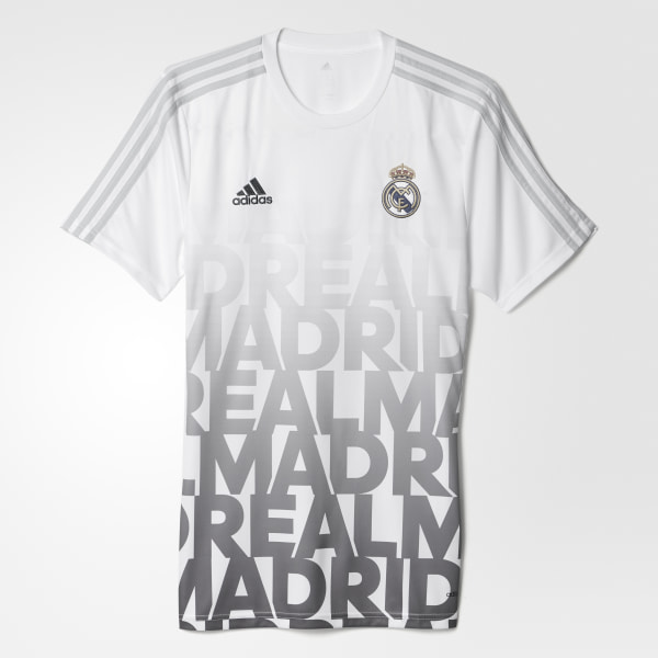 Camisa Pre Jogo Real Madrid WHITE CLEAR GREY AC6507 1266c7b5f610c