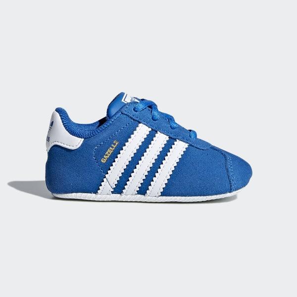 online store 245bd 556e6 Gazelle Crib Shoes Bluebird   Ftwr White   Ftwr White CM8229