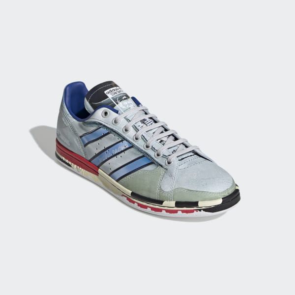 9f996b63c RS Micropacer Stan Smith Shoes Silver Met.   Red   Red EE7950