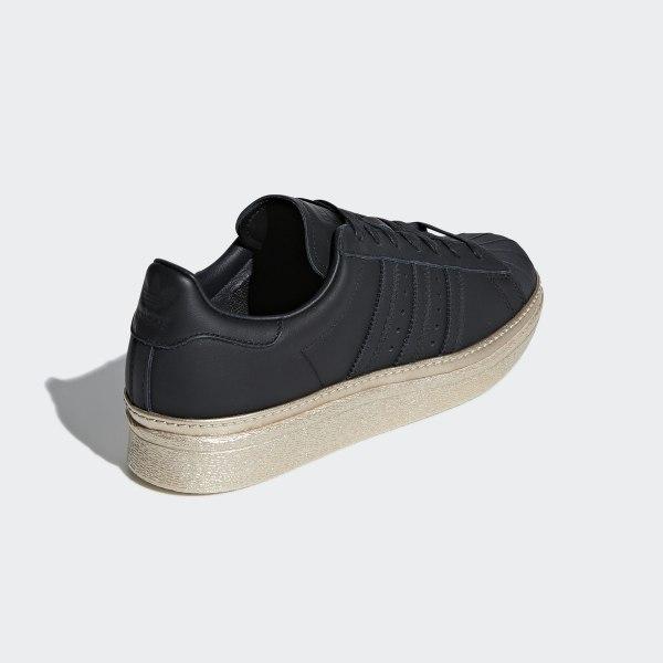 23dd018de3f6 Superstar 80s New Bold Shoes Core Black   Core Black   Gold Metallic B28041