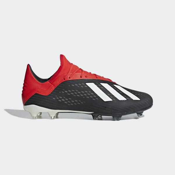 Bota de fútbol X 18.2 césped natural seco Core Black   Off White   Active  Red 1446a2ab8e854