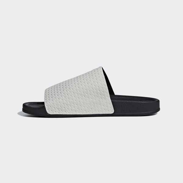 97341ec28 Adilette Luxe Slides Grey Two   Core Black   Gold Metallic DA8930