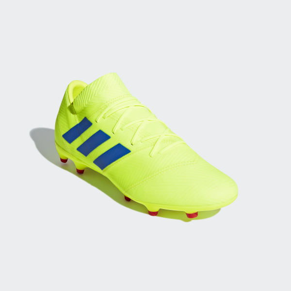 cbb4f91bfb1e6 Scarpe da calcio Nemeziz 18.2 Firm Ground Solar Yellow   Football Blue   Active  Red BB9431