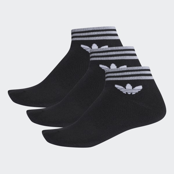 fc0735a468a adidas Ponožky Trefoil Ankle – 3 páry - černá