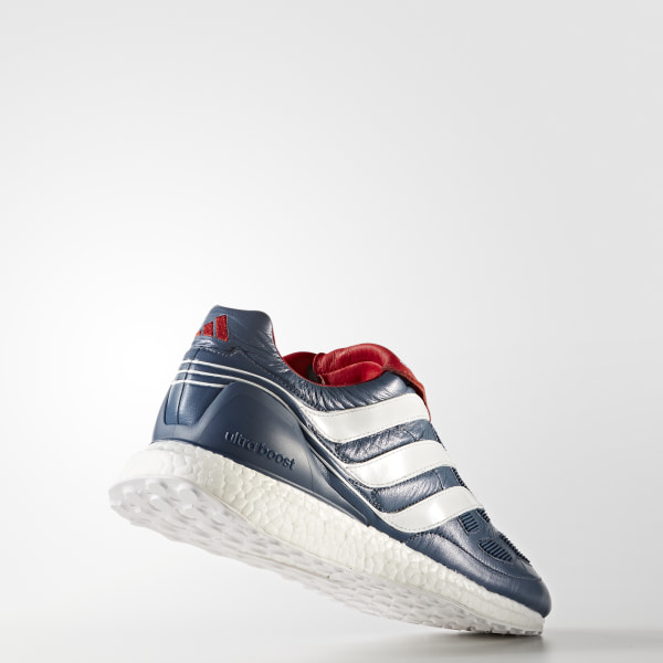 Predator Precision Ultra Boost Shoes Blue Grey   Cloud White   Collegiate  Red CM7913 3f8473006