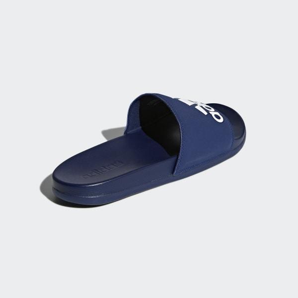 50c7a03a4cef55 Adilette Cloudfoam Plus Logo Slides Dark Blue   Ftwr White   Dark Blue  B44870