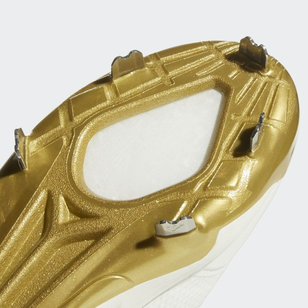 fe7bfc0b183 Boost Icon 4 Cleats Cloud White   Gold Metallic   Running White CM8476