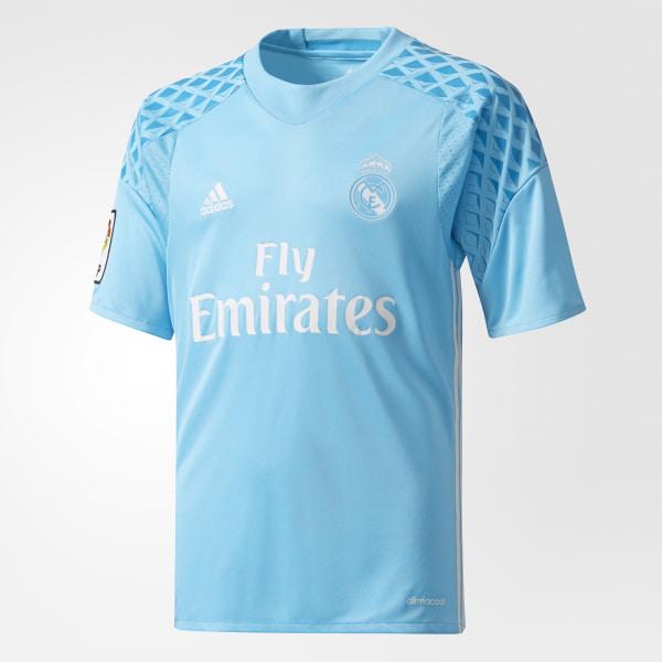 Camiseta portero primera equipación Real Madrid Bright Cyan Crystal White  AI5177 89e19401502a7