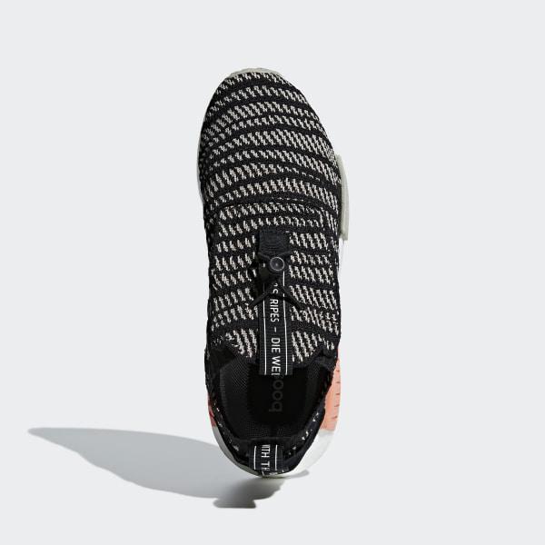 10a0e2cbe NMD TS1 Primeknit GTX Shoes Core Black   Sesame   Chalk Coral BB9176
