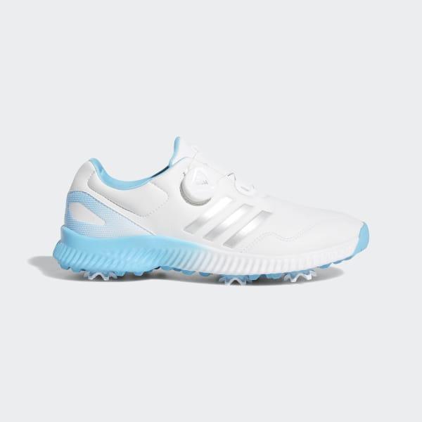 1681b63a3 Response Bounce Boa Shoes Cloud White   Silver Metallic   Bright Cyan BD7191