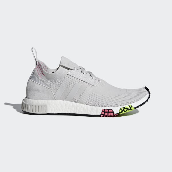 4255e517d NMD Racer Primeknit Shoes Grey One   Grey One   Solar Pink CQ2443