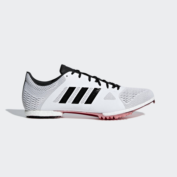 404203273d4 Sapatos de Bicos Meio-Fundo Adizero Ftwr White   Core Black   Shock Red  B37493