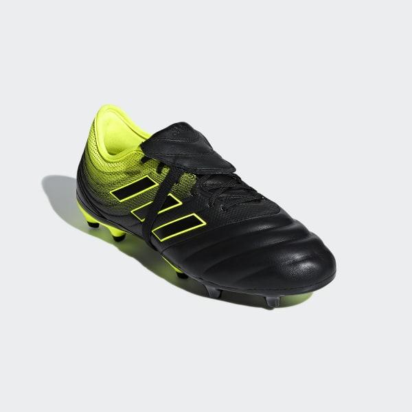 reputable site 5b7b1 d228d Copa Gloro 19.2 Firm Ground Boots Core Black  Core Black  Solar Yellow  BB8089
