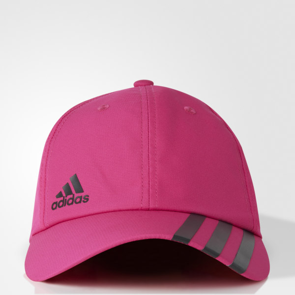 Gorra Climalite Off-Centered Tres Rayas BOLD PINK   BLACK   BLACK AB0506 3fa7d57968a