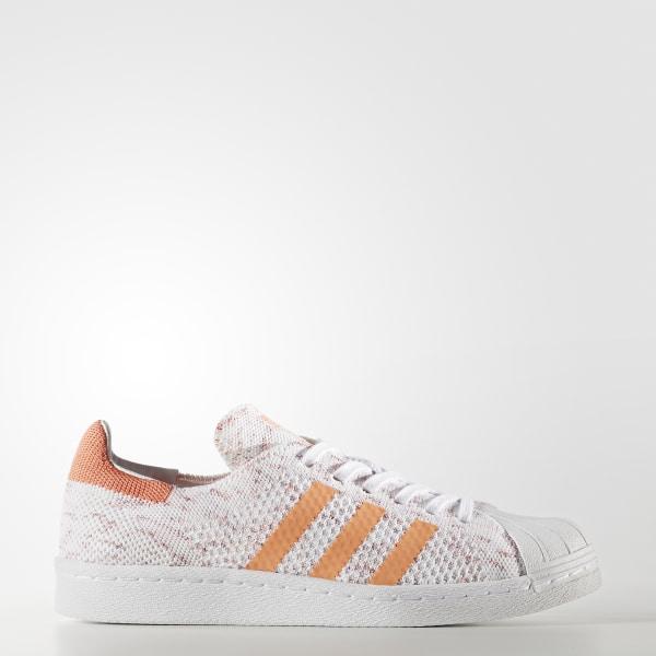 detailing aa32f 84af9 Superstar 80s Primeknit Schuh Semi Flash Orange   Footwear White    Collegiate Burgundy BY9206