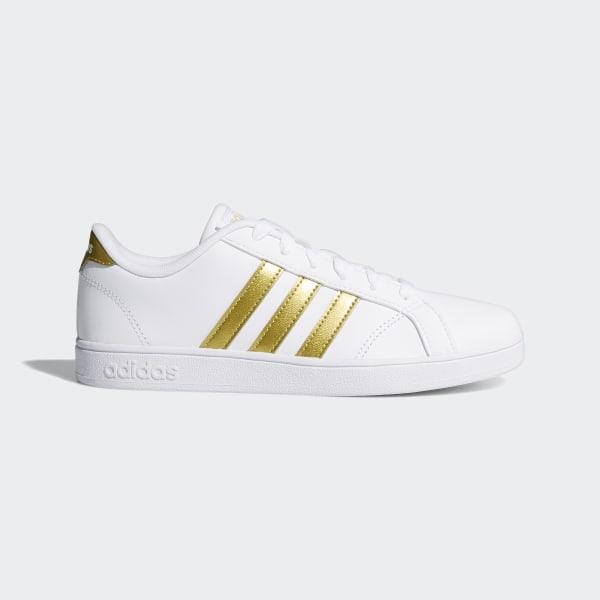 f07c10a494b8d6 Baseline Shoes Cloud White   Matte Gold   Core Black CG5844