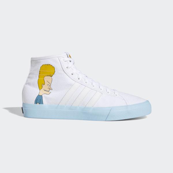 uk availability 78790 259f4 Matchcourt High Remix Beavis  Butthead Shoes Ftwr White  Icey Blue  Core  Black DB3379