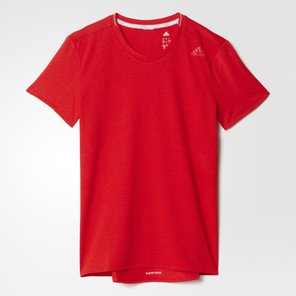 adidas Playera para Correr Supernova Mujer - Rojo  488b523a8911f