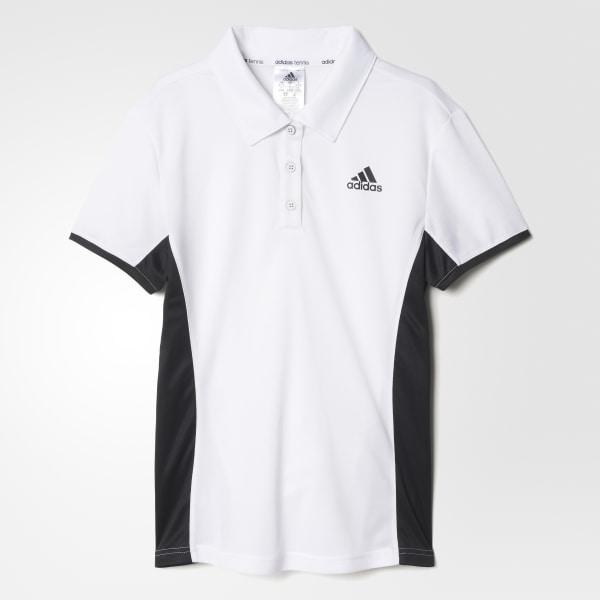 c119d542d8bf7 Polo de Tennis Court WHITE BLACK AJ6067