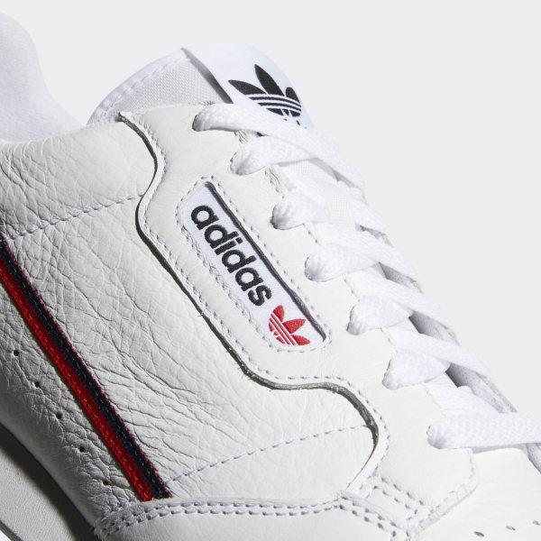 big sale d0484 0d779 Continental 80 Shoes Ftwr White   Scarlet   Collegiate Navy B41674