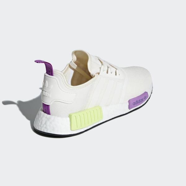 dd1ed32d23806 NMD R1 Shoes Chalk White   Chalk White   Semi Solar Yellow D96626