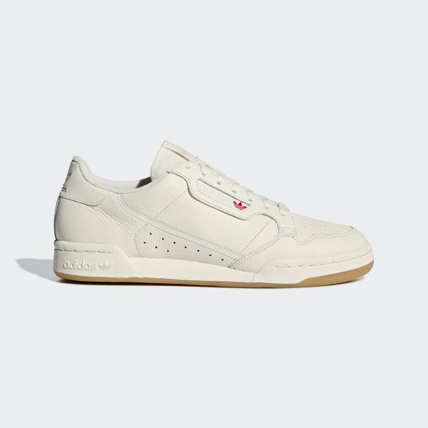 adidas continental 80 uomo bianco e rosso  Scarpe Continental 80 - Bianco adidas   alia