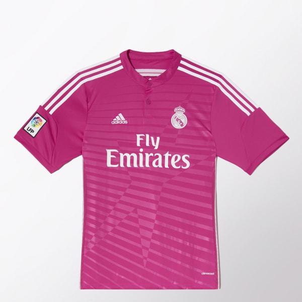 029da4147ba39 Jersey de Visitante Real Madrid 2014-2015 PINK WHITE M37315