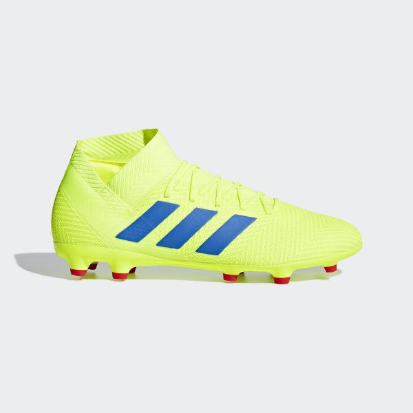Nemeziz 18.3 Firm Ground Cleats Solar Yellow   Football Blue   Active Red  BB9438 e8fbc6c62baf9