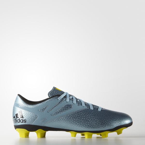 dc50bc22ac Hommes Messi 15.4 Firm Artificial Ground Cleats Matte Ice Metallic Bright  Yellow Core