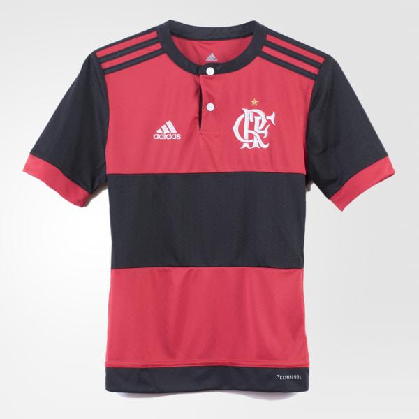 b8bcf6d768 Camisa Flamengo 1 Infantil BLACK COLLEGIATE RED BK7102