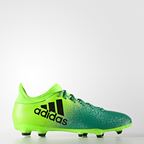 Zapatos de fútbol X 16.3 Superficie Firme SOLAR GREEN CORE BLACK CORE GREEN  BB5855 b9be1cce47dcb
