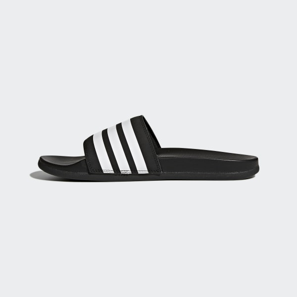 ef6a057256223 Adilette Cloudfoam Plus Stripes Slides Core Black   Cloud White   Core Black  AP9971