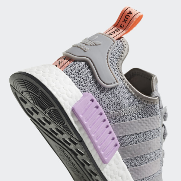 d36e2f1baa66d NMD R1 Shoes Light Granite   Light Granite   Clear Orange B37647