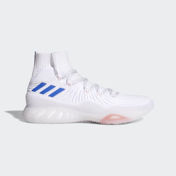 new style 9b431 44eda Crazy Explosive 2017 Primeknit Shoes Ftwr WhiteBlueLgh Solid Grey CQ0611