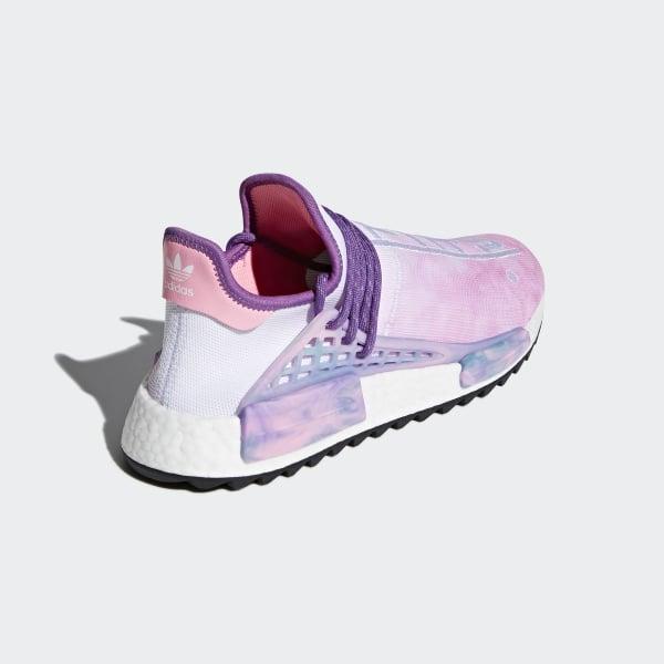 d2b3c86d736f5 Pharrell Williams Hu Holi NMD MC Shoes Pink Glow   Lab Green   Flash Purple  AC7362