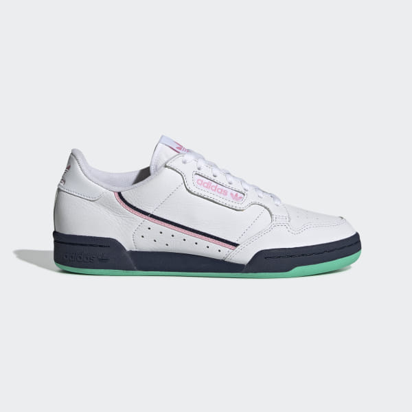 fdd69af04a1 Tênis Continental 80 Ftwr White   True Pink   Collegiate Navy G27724