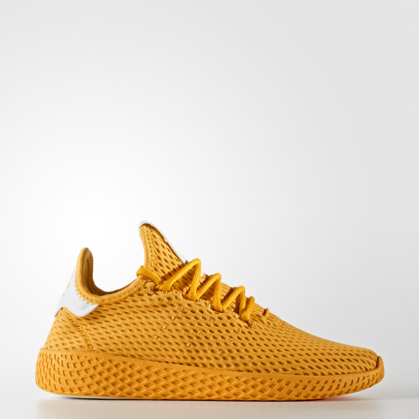 ed598e911 Pharrell Williams Tennis Hu Shoes Collegiate Gold   Collegiate Gold   Cloud  White CP9808